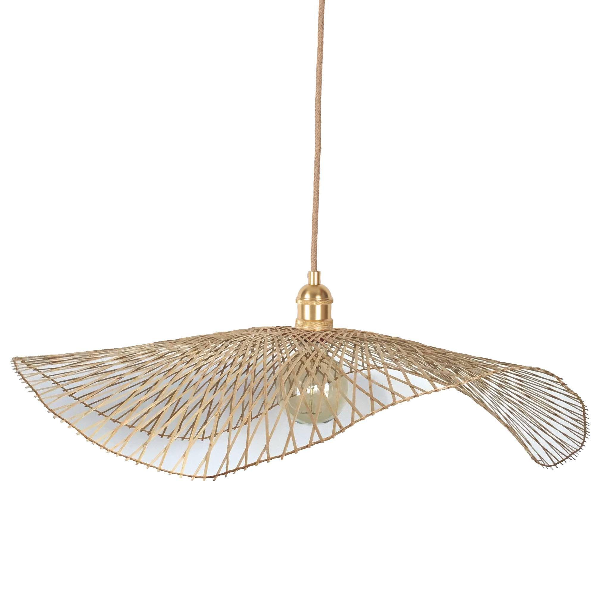 Ampoule Vertigo Petite Friture grand abat-jour en bambou libellule | abat jour, bambou et