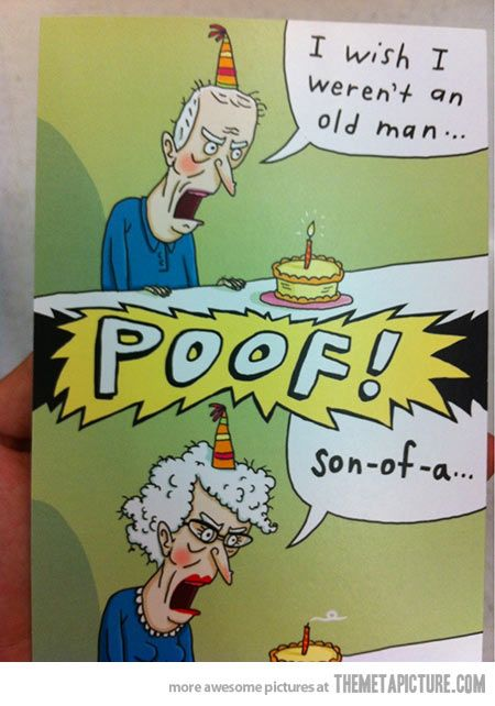 Birthday wish gone wrong – Humorous Birthday Cards Men