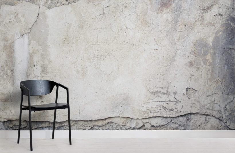 Broken Concrete Wallpaper Mural Murals Wallpaper Concrete Wallpaper Concrete Wall Wallpaper Interior Design