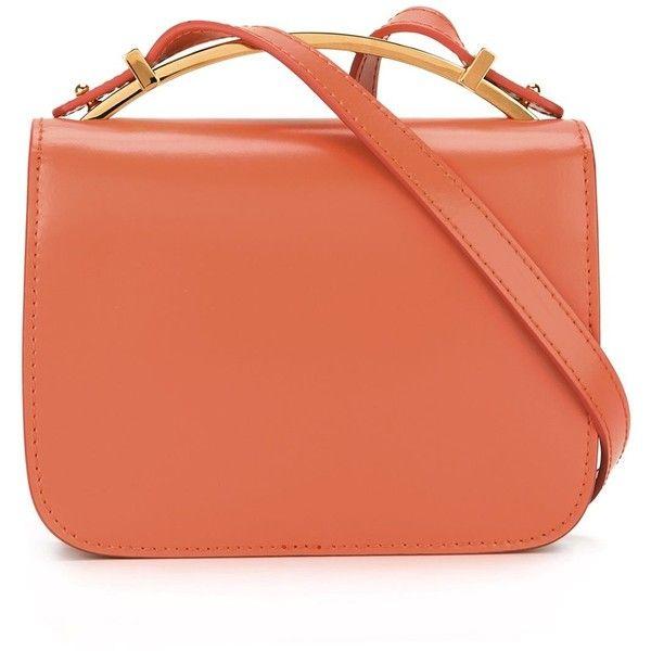 Marni 'Sculpture' shoulder bag (£920) ❤ liked on Polyvore featuring bags, handbags, shoulder bags, pink, handbags shoulder bags, red handbags, man shoulder bag, red purse and top handle handbags
