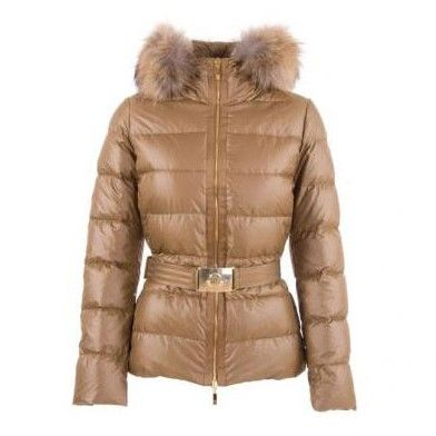 3b9512f1dc Moncler Angers Belted Quilt Brown Jacket Women For Sale
