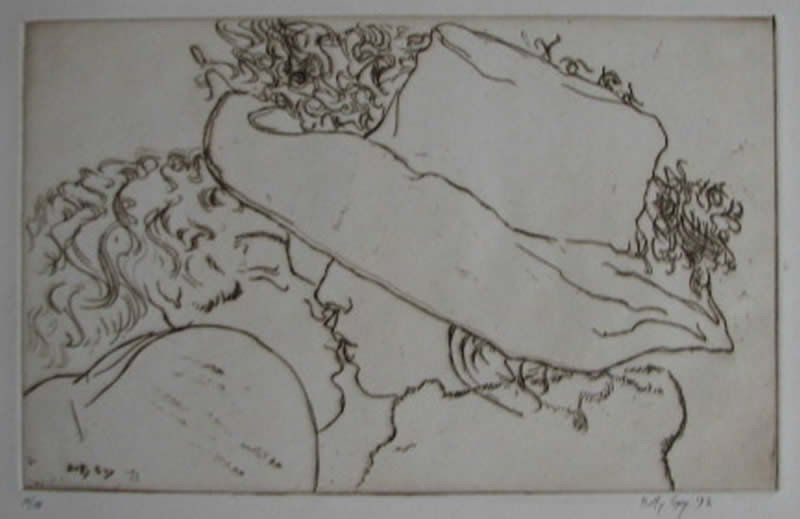 """Betty Guy - """"Young Lovers"""" Etching"""