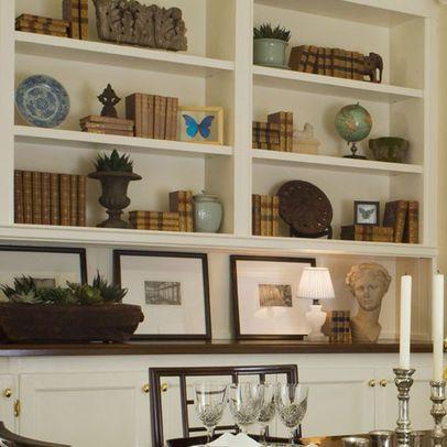 Bookshelf Display With Images