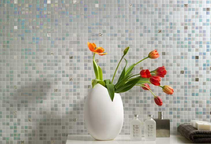 Rivestimento bagno mosaico di vetro islanda mosaici - Rivestimento mosaico bagno ...