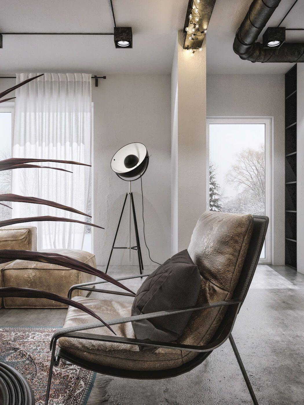Modern Loft in Kaunas by Idwhite Interior Pinterest