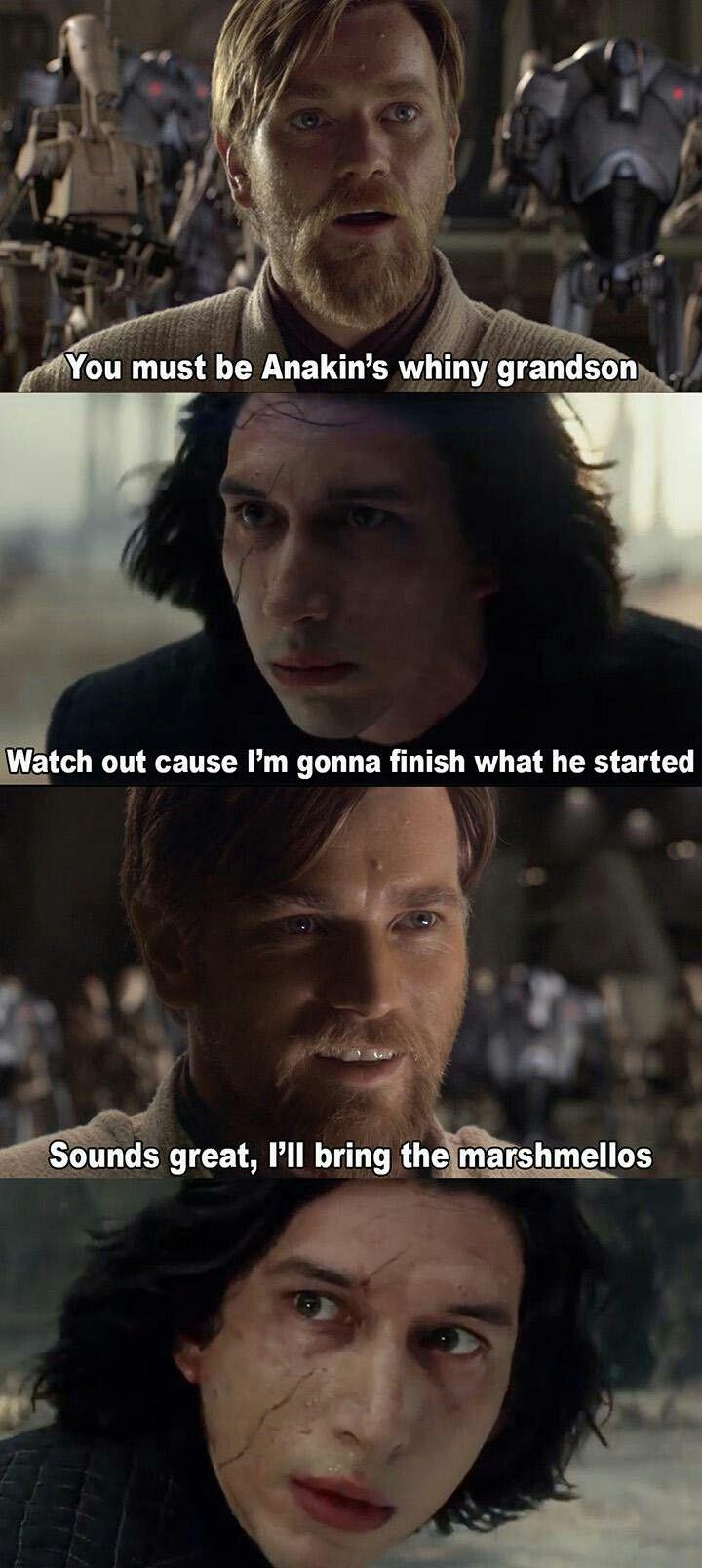 Obi Wan Kenobi And Some Whiny Lil Brat Funny Star Wars Memes Star Wars Memes Star Wars Facts
