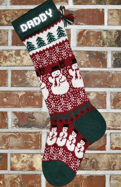 personalized knit christmas stockings wool knitted with angora trim