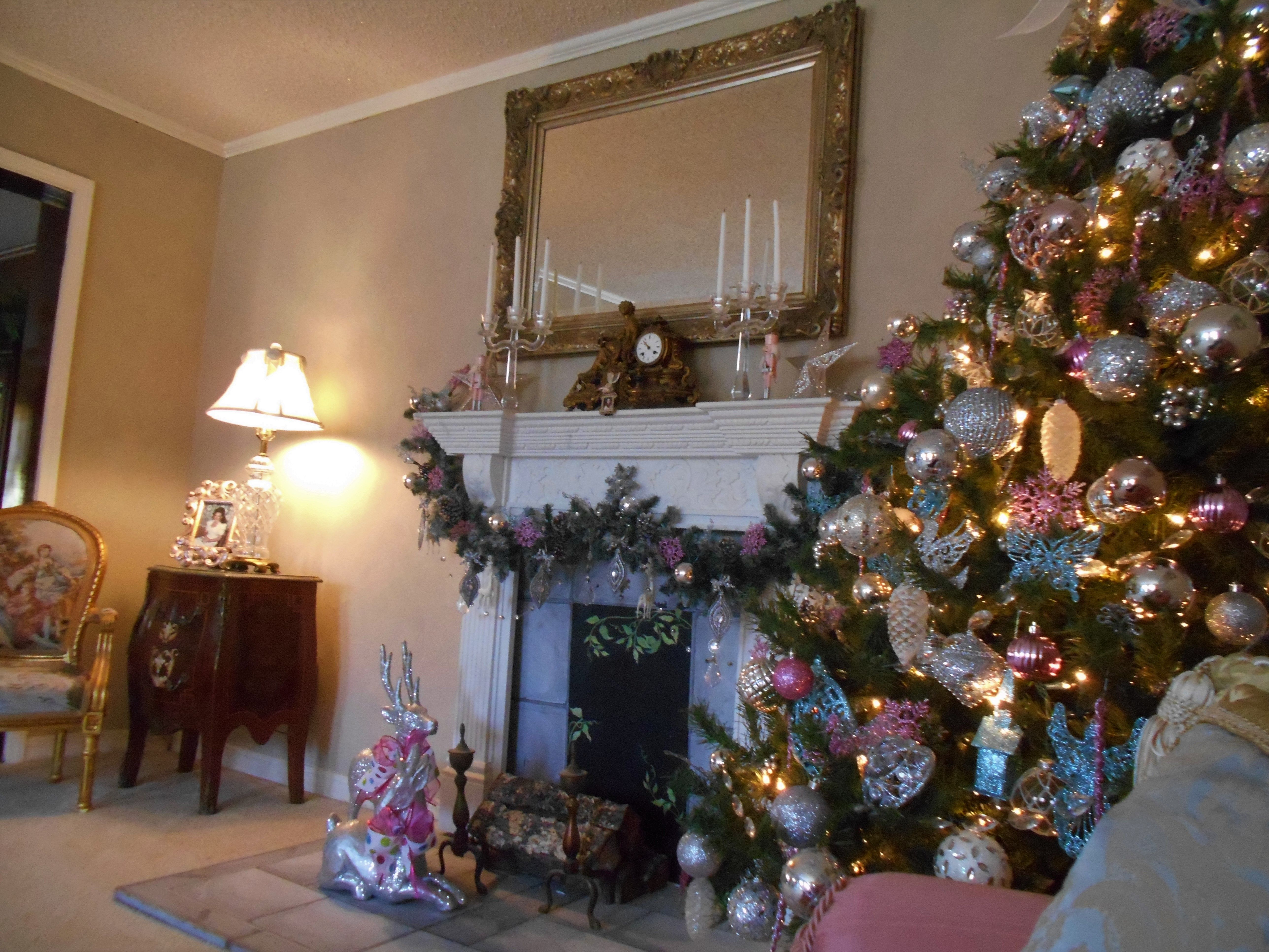 Christmas Tree by Fireplace Christmas Pinterest