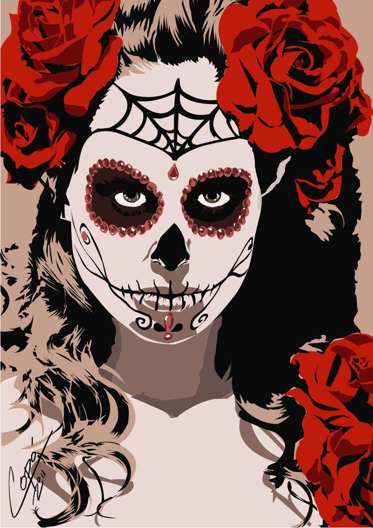 Dia de los muertos #girl | Halloween love! | Pinterest