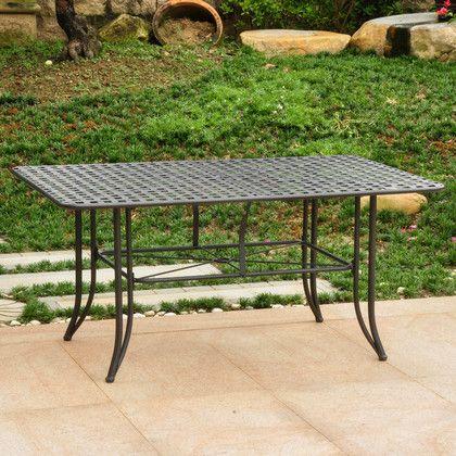 "International Caravan Mandalay Iron Outdoor 60"" Dining Table in"