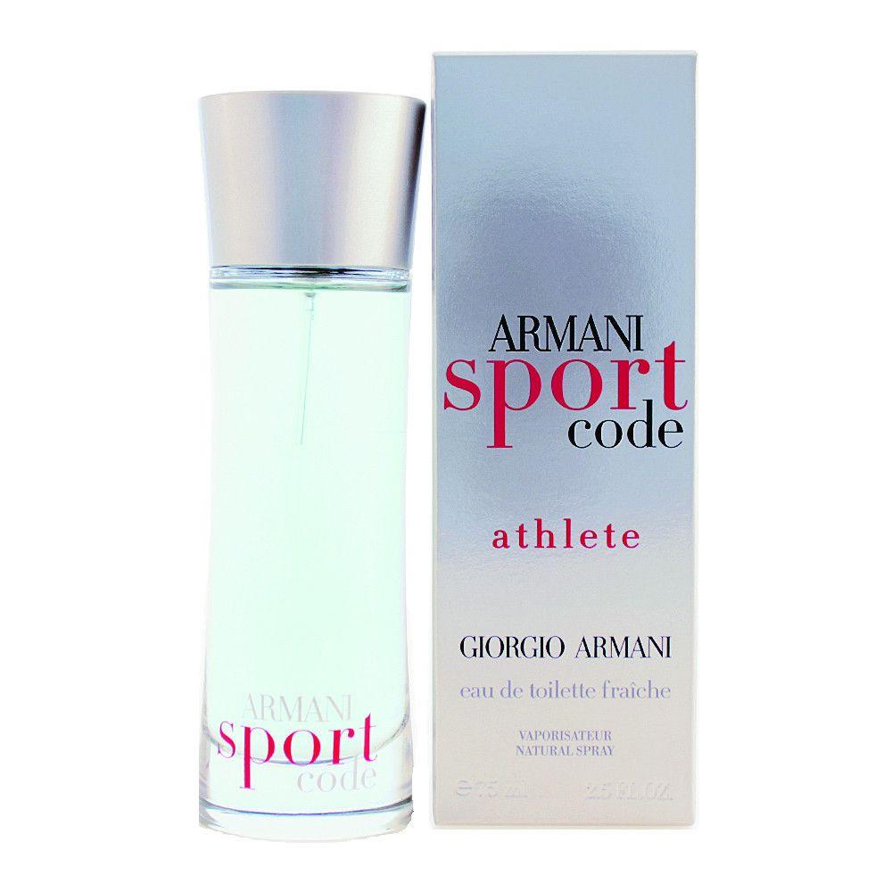 Armani Code Sport Athlete Cologne 2.5 Oz Edt Fraiche For