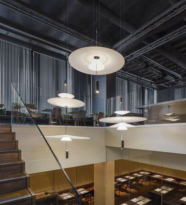 Luminaire - Suspensions - Suspension Flamingo LED / Ø 90 cm - Vibia - Blanc / Blanc - Acrylique, Métal, Méthacrylate