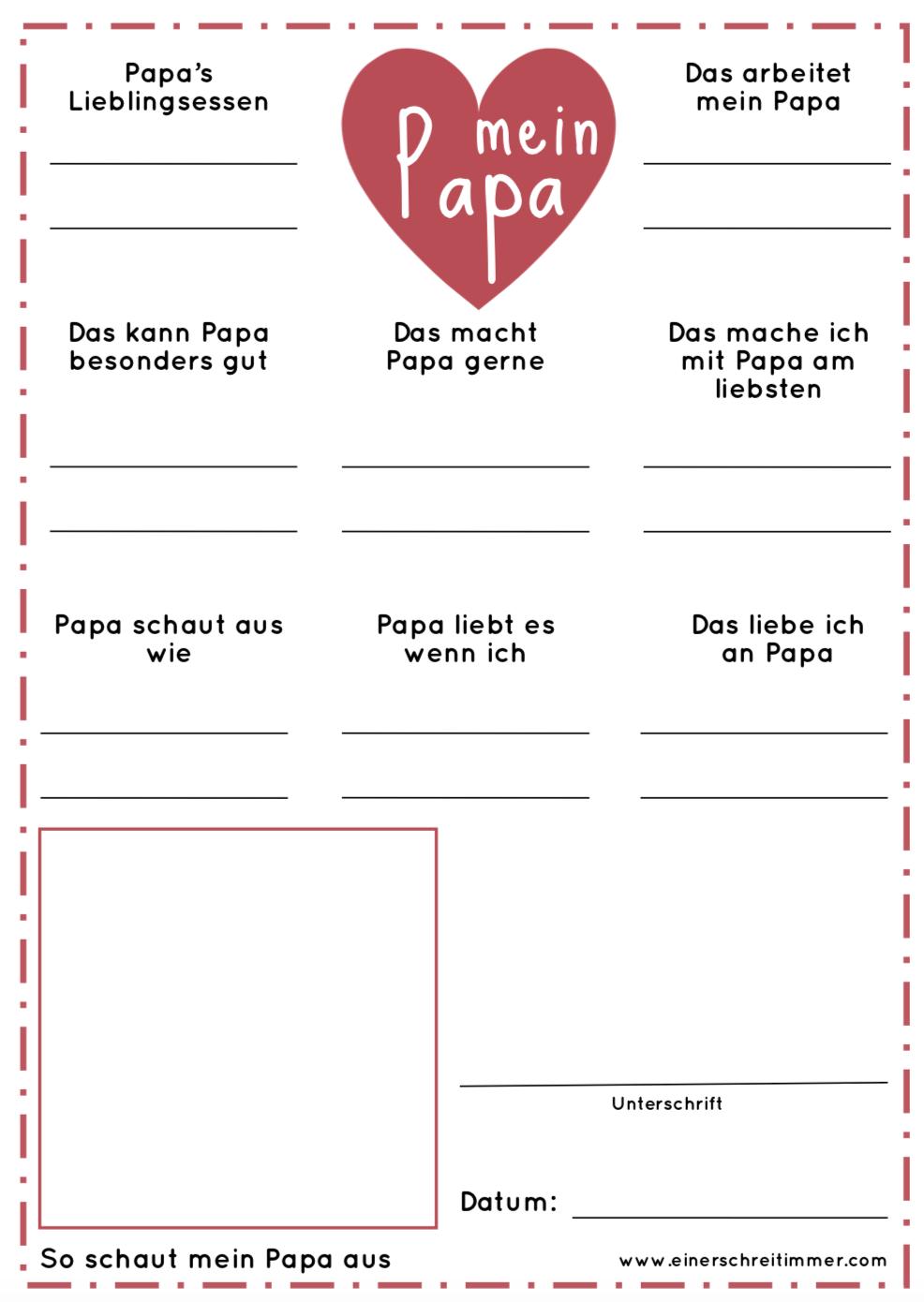 Download Vatertag: Fragebogen für Papa #father