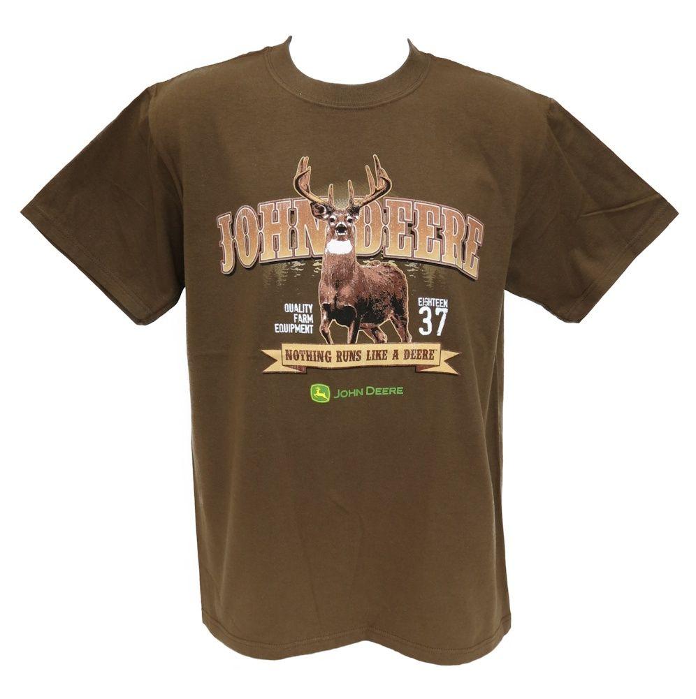 Brown John Deere Nothing Runs Like a Deere Tee Shirt