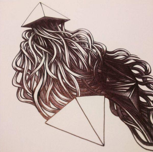 art drawing black ink black pen ballpoint pen