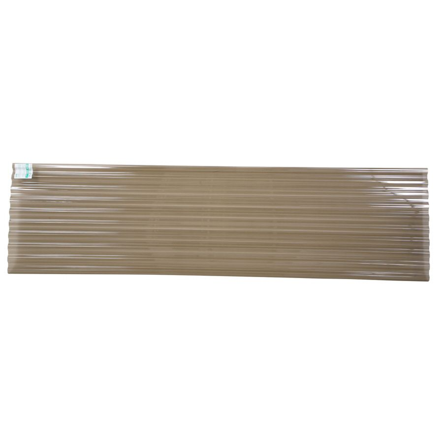 Shop Tuftex 144 In X 26 In Translucent Smoke Corrugated