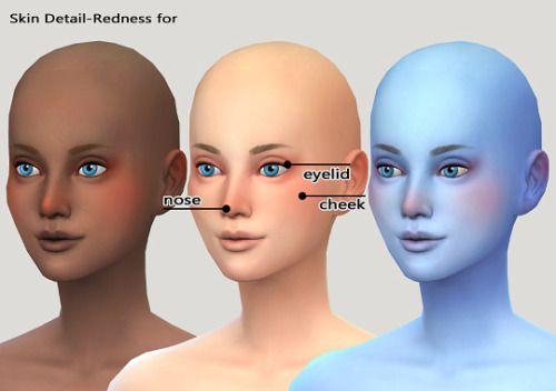 imadako] Skin Detail / Redness for Face & Body   Sims 4