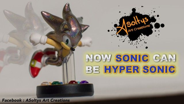 Now Sonic Can Be Hyper Sonic Custom Amiibo By Adam Soltys Amiibo Sonic Super Smash Brothers