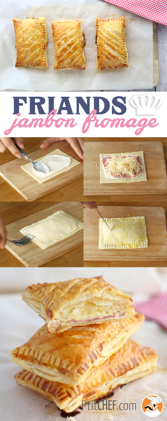 Friands jambon fromage, Recette Ptitchef