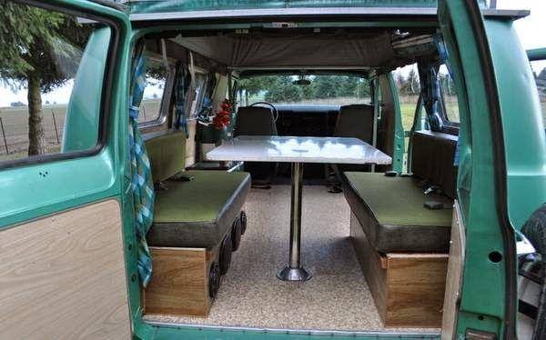 Daily Turismo 10k Picnic Ready 1971 Dodge Tradesman 200 Camper Van