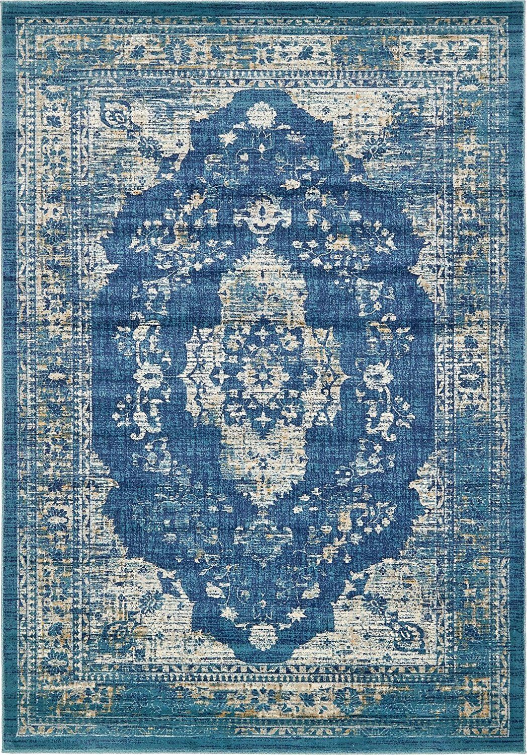 Amazon Com A2z Rug Navy Blue 7 39 X 10 39 Ft St Martin Collection Area Rug Vintage Inspired Overdyed Perfect For Navy Blue Rug Area Rugs Carpet Design