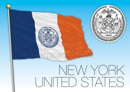 New York City Flag And Seal United States City Flags Flag New York