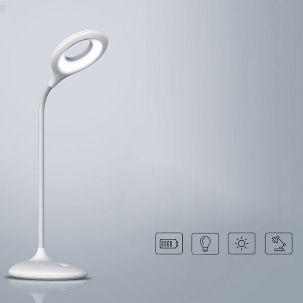 Flexible Oval Shaped Led Eye Protection Desk Lamp Table Light For Bedroom Reading Study