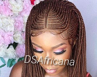 Cornrow wig braid wig lace front cornrow wig | Etsy
