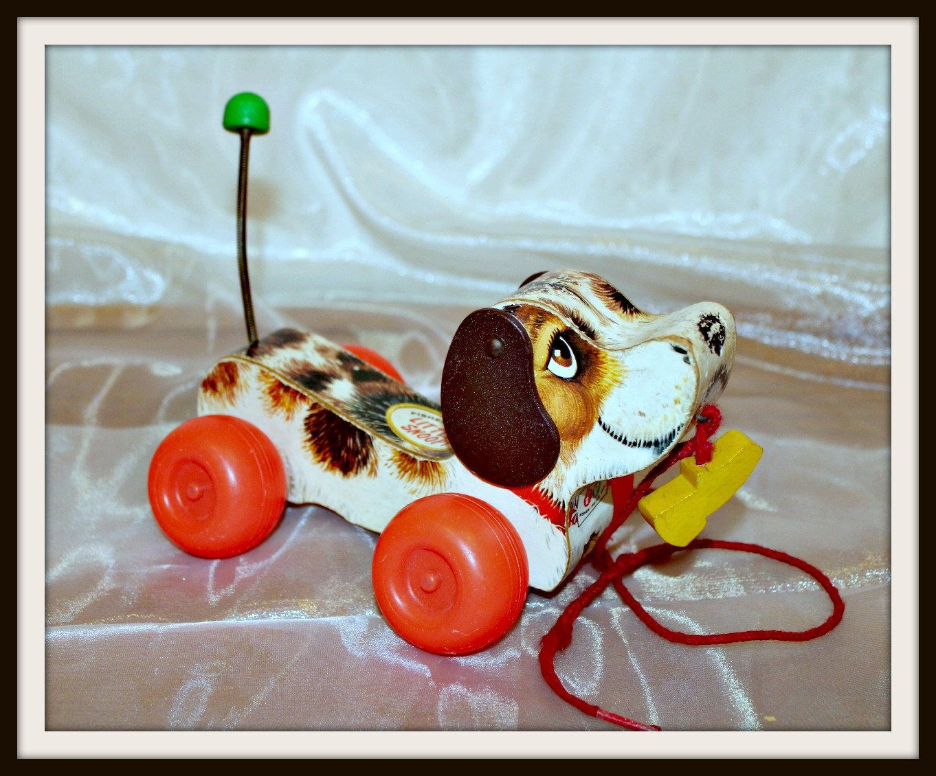 Fisher Price Little Snoopy 1960s Retro Dog Pull Toy Vintage