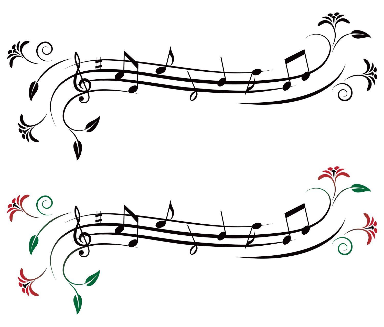 Vectores de Notas Musicales [Cuaderno de Musica] [EPS y AI]