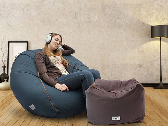 "Adult bean bag cover lounge chair Adult lounge chair Bean bag chair Bean bag cover 39x31x31"" main inner cover NO beans - big bean bags for adults"