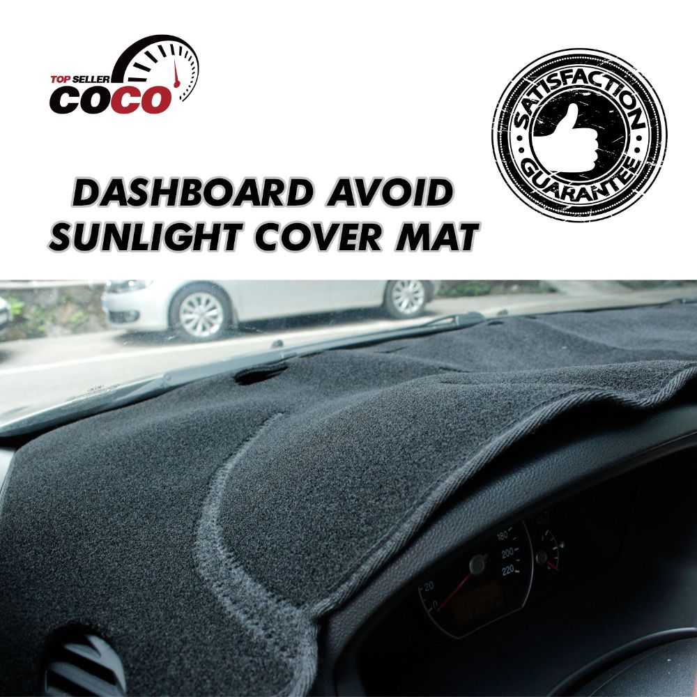 Toys for car dashboard  High Quality CarStyling Covers SunShades Protector Black Dashboard