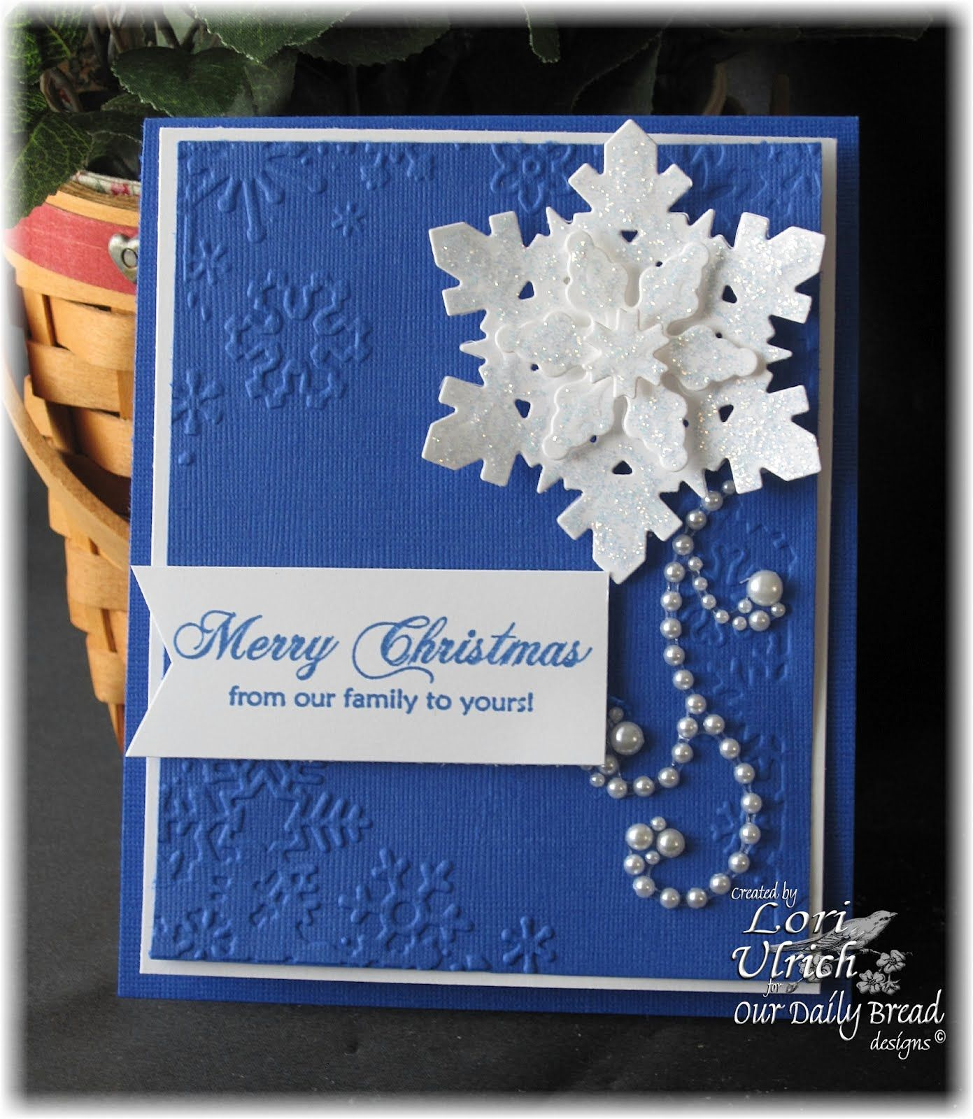 Papercrafts by SaintsRule Blue and snowflakes