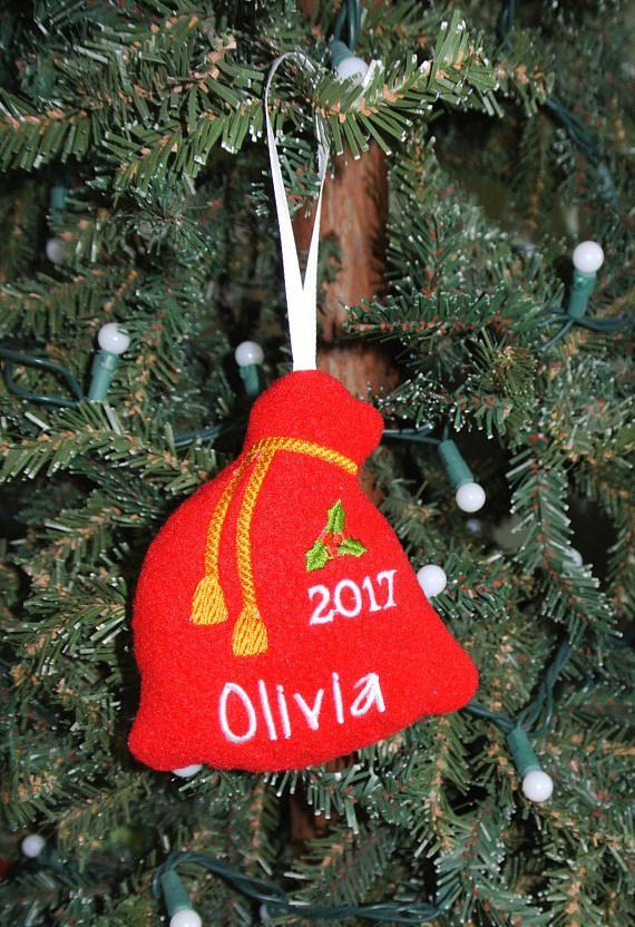 Santa bag ornament Personalized Ornament Santa sack ornament