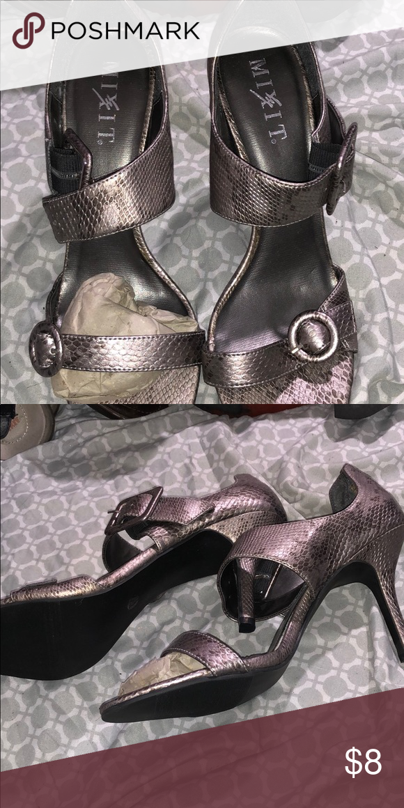 44af7d07eb660 New snakeskin shoes These are cute snakeskin pattern strappy heels Mixit  Shoes