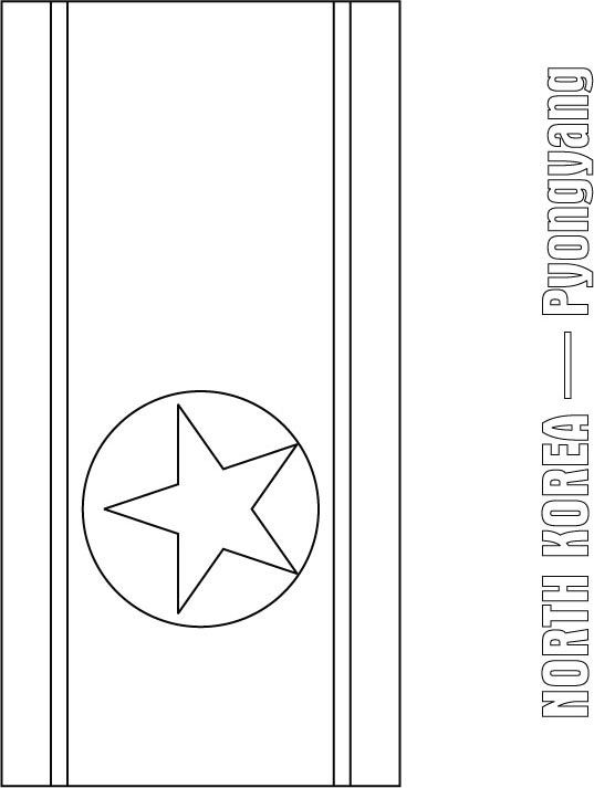 North Korea Flag Coloring Page Sonlight Core C Window On The