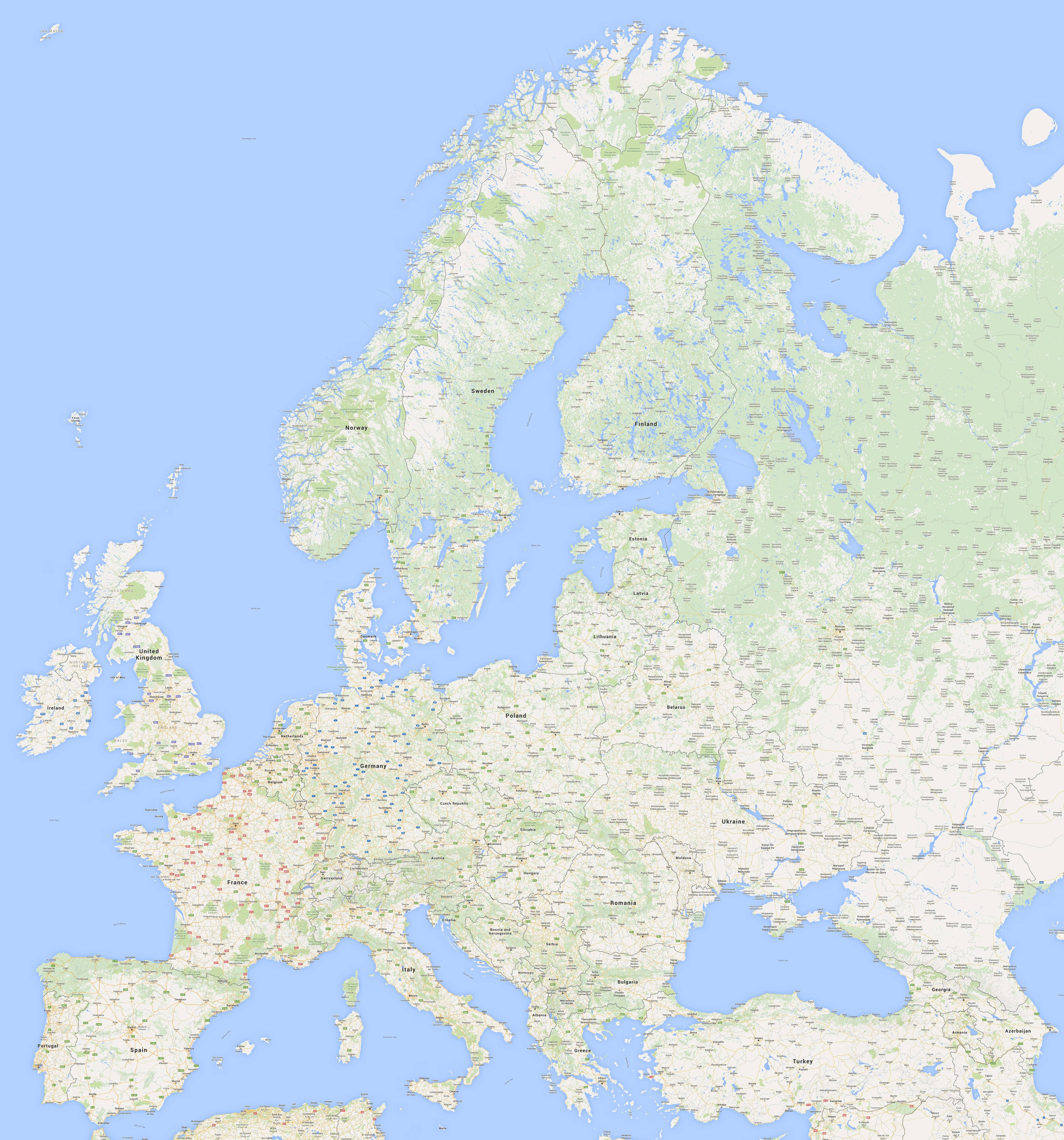 I made a high resolution map of Europe becuase i couldn t find one