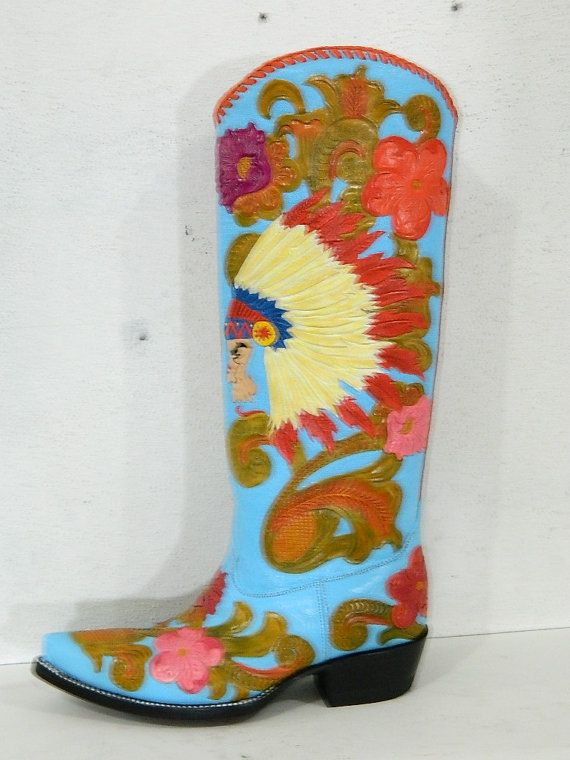 Cowboy Boots Painting
