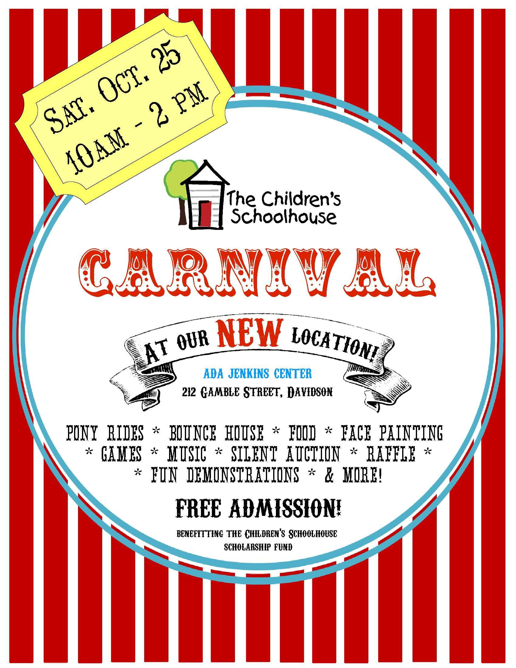 school carnival flyer template