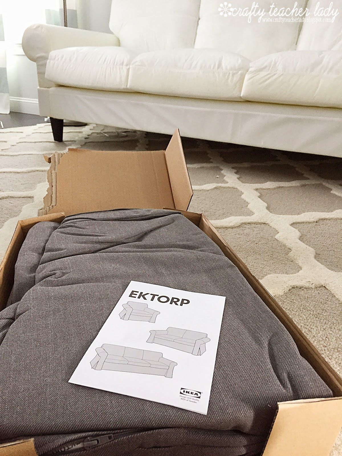 Full Detailed Review Of The IKEA Ektorp Sofa Series With Pictures Of Used  Sofa Next To Brand New Sofa As Well As Pictures Of The Assembly Process.