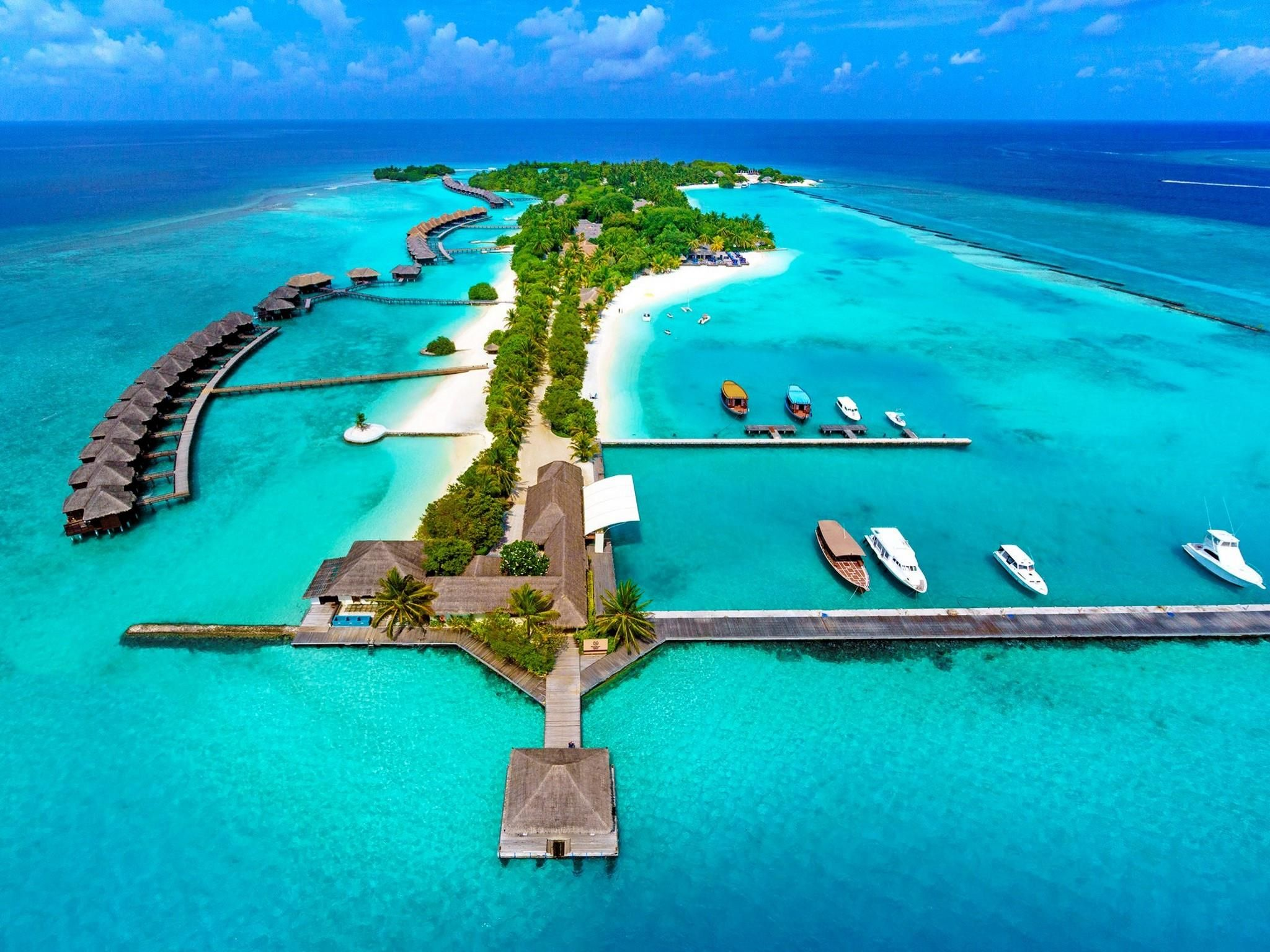Maldives Islands Sheraton Maldives Full Moon Resort Amp Spa Maldives Asia Located In North Male
