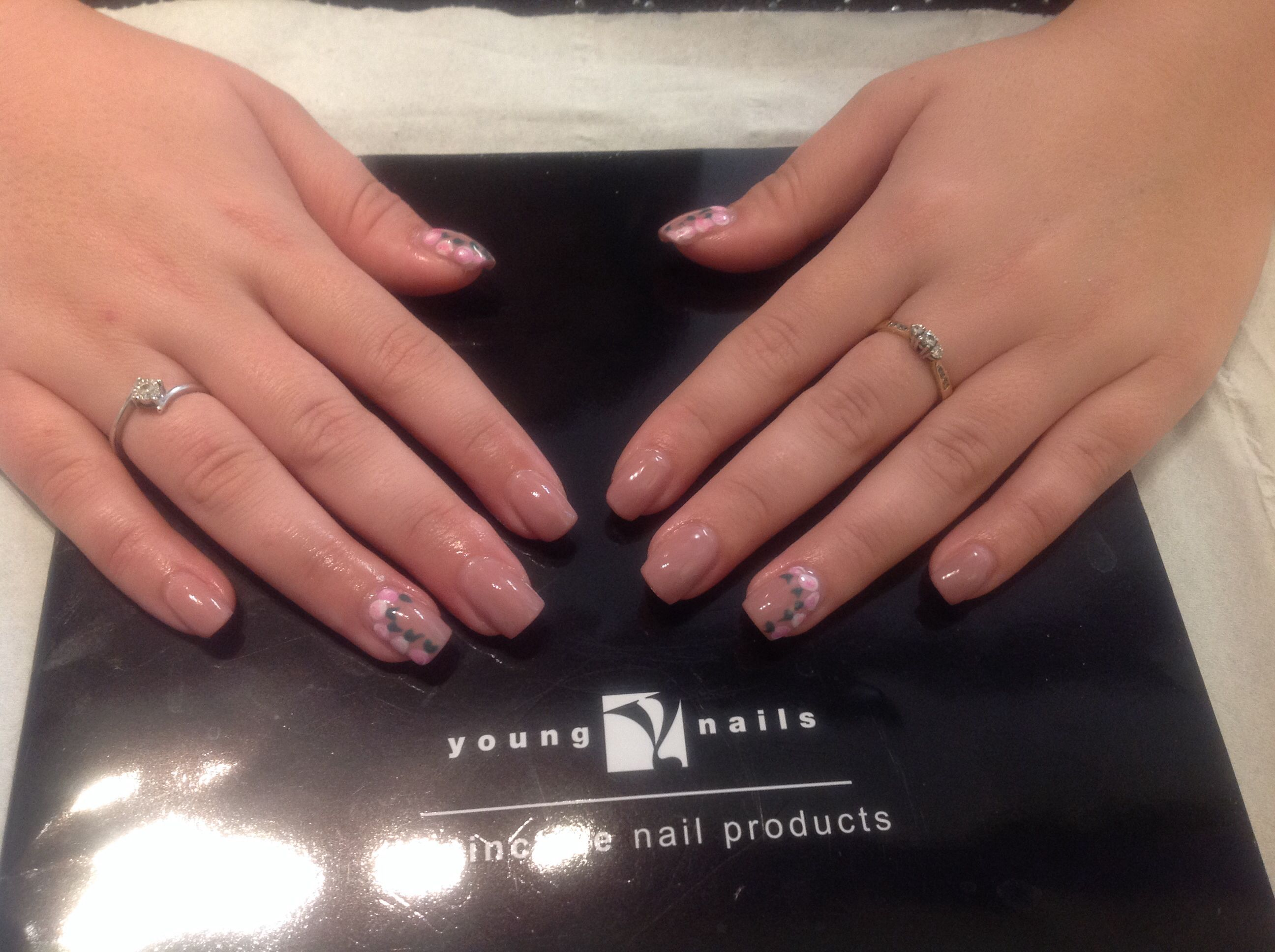 Young Nails mani.Q Beige 102 with Cath Kidston style details ...