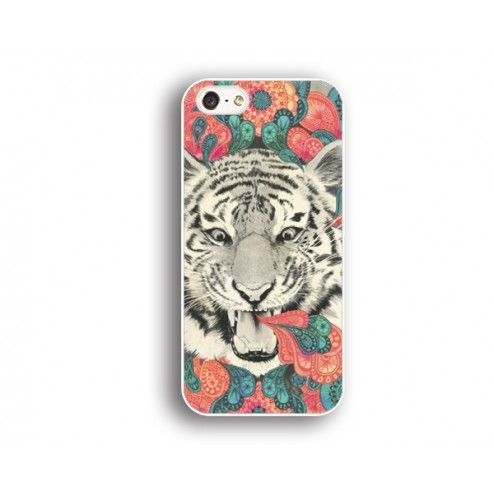fierce tiger Iphone 5 case,tiger and flower Iphone 5c case,cool Iphone 5 case,Iphone 4/4s case,customizable Iphone case