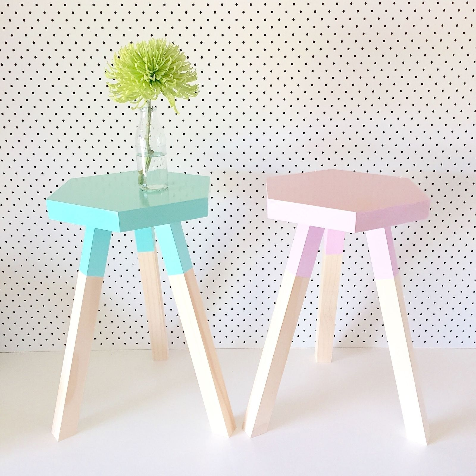 Dipped hexagon stool $75 via DTLL For the Home