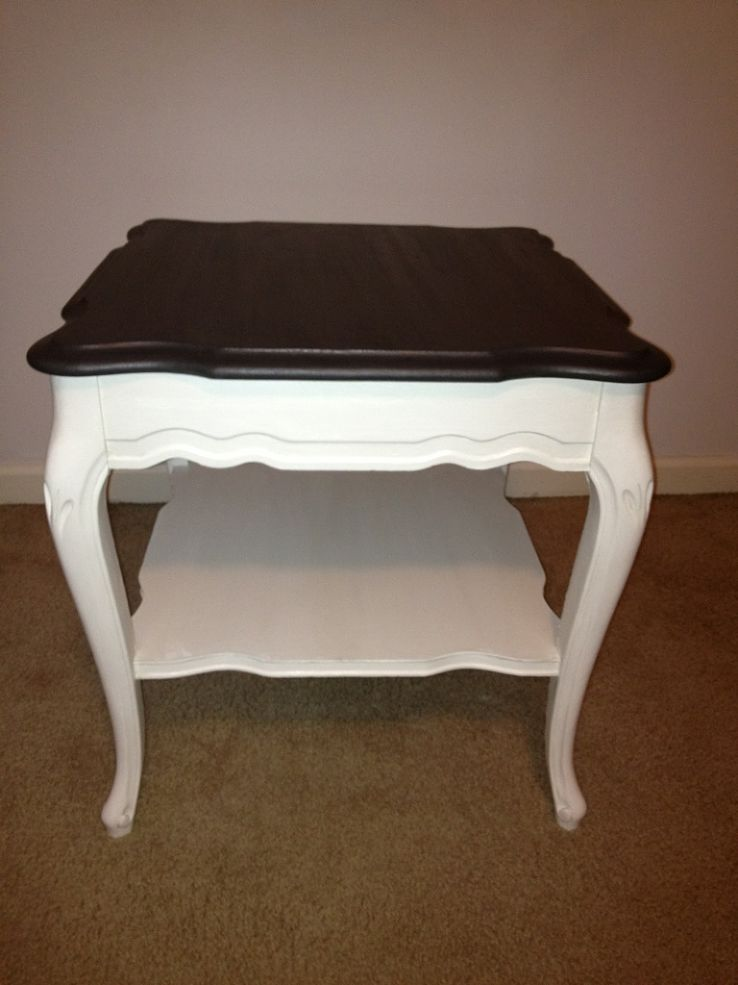 French Provincial Table before & after