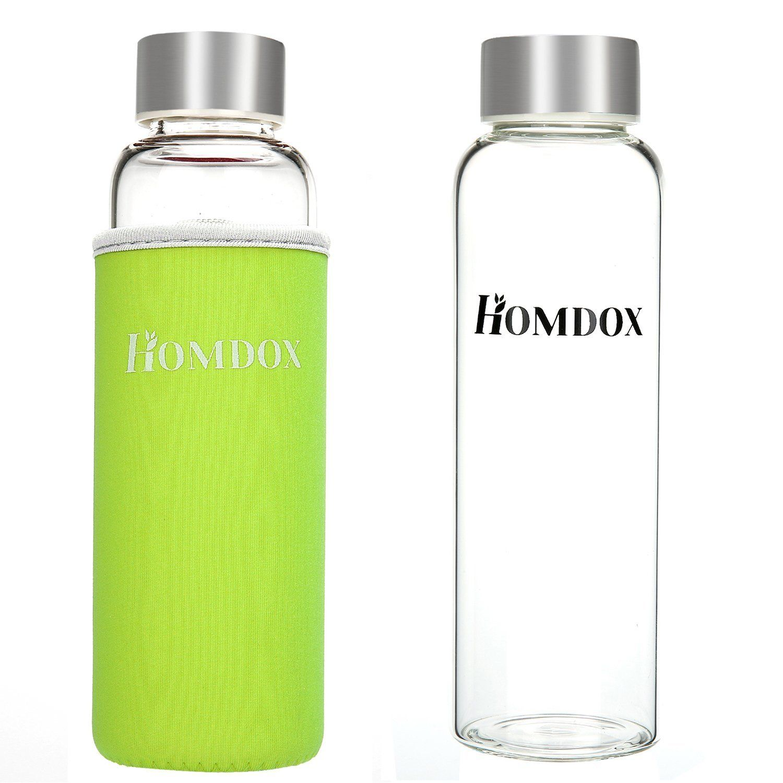 amazon com homdoxa glass water bottle made of high quality