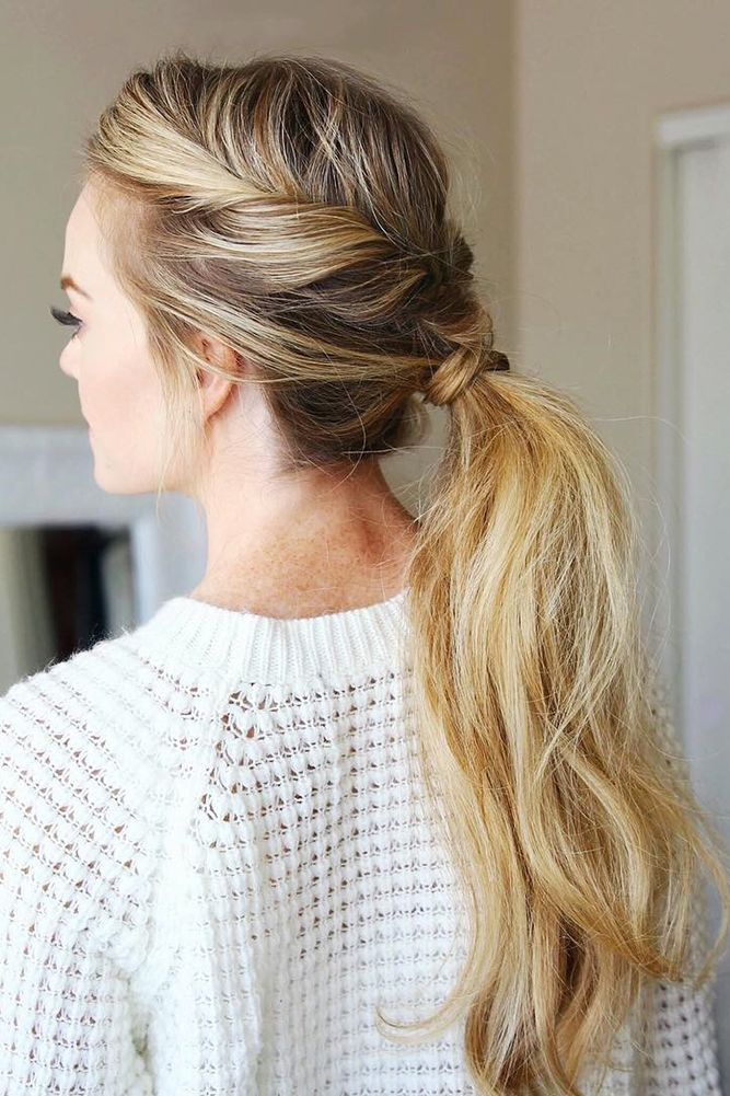 30 Modern Pony Tail Hairstyles Ideas For Wedding Wedding Forward Tail Hairstyle Messy Ponytail Hairstyles Long Hair Styles