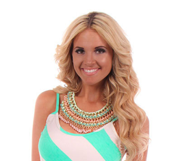 Lime Lush Boutique - Mint and Peach Chain Necklace, $34.99 (http://www.limelush.com/mint-and-peach-chain-necklace/)