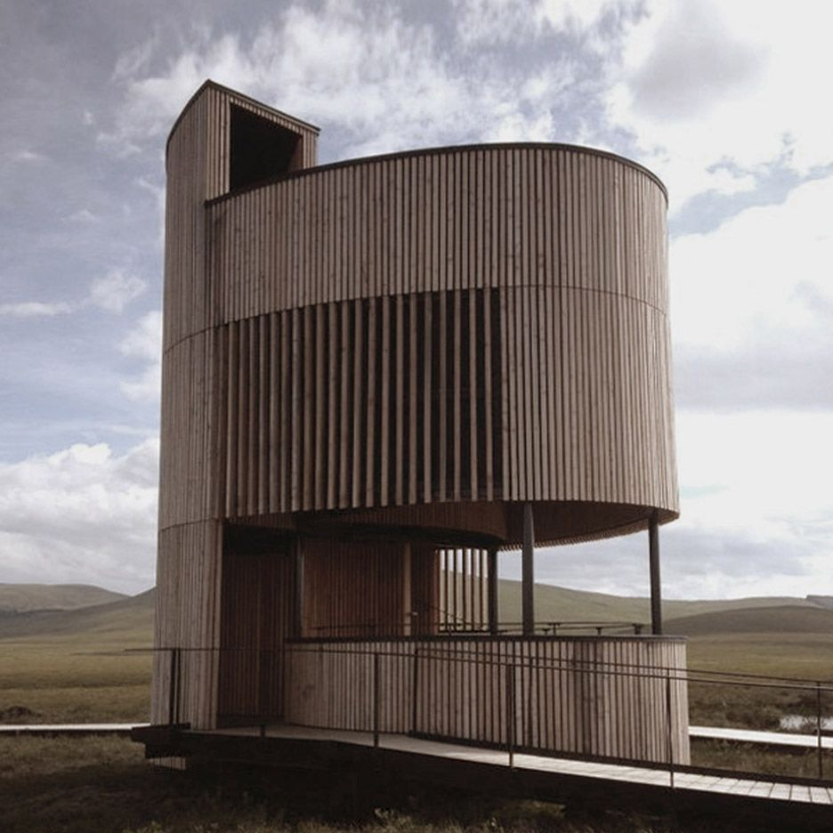 Forsinard lookout tower by Icosis Architects in the Scottish