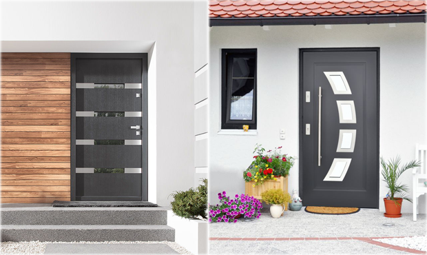 Modern Steel Front Entry Doors Contemporary Exterior Doors Pre